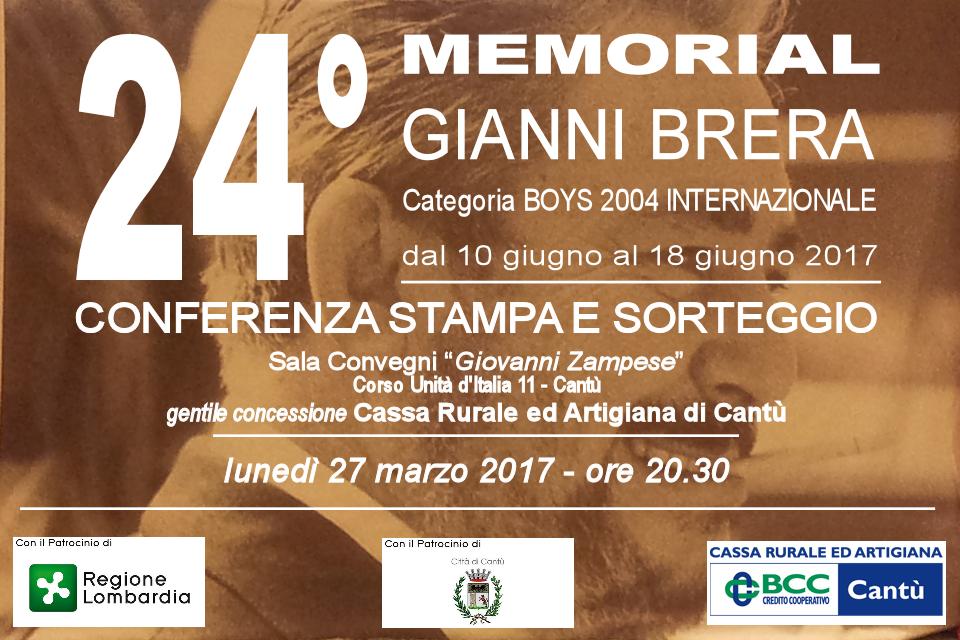 """Sorteggio 24° Memorial """"GIANNI BRERA"""""""