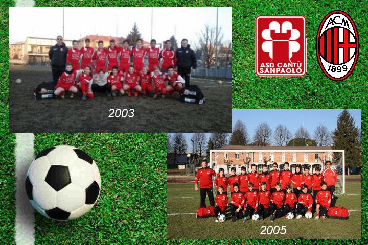 Nel weekend i nostri 2003 e 2005 impegnati contro formazioni del Milan