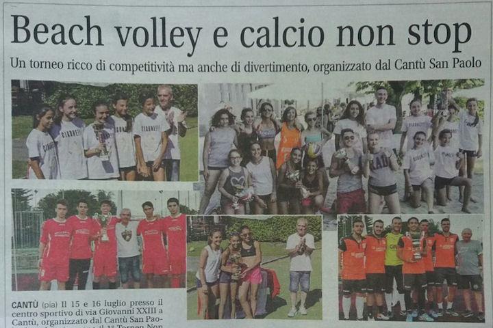 Giornale di Cantù | Beach volley e calcio non stop