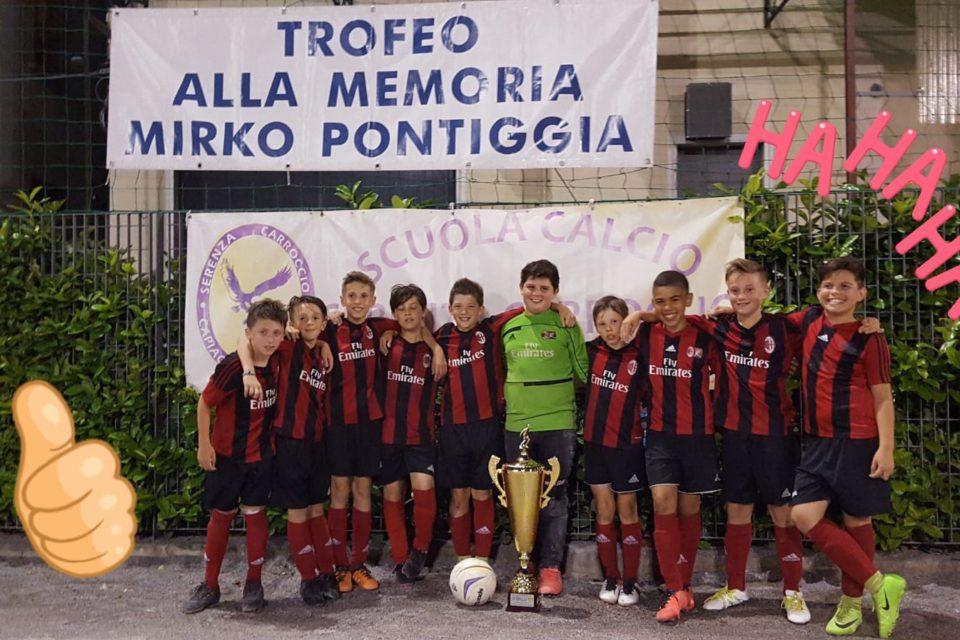 Pulcini 2007 si aggiudicano il trofeo Pontiggia