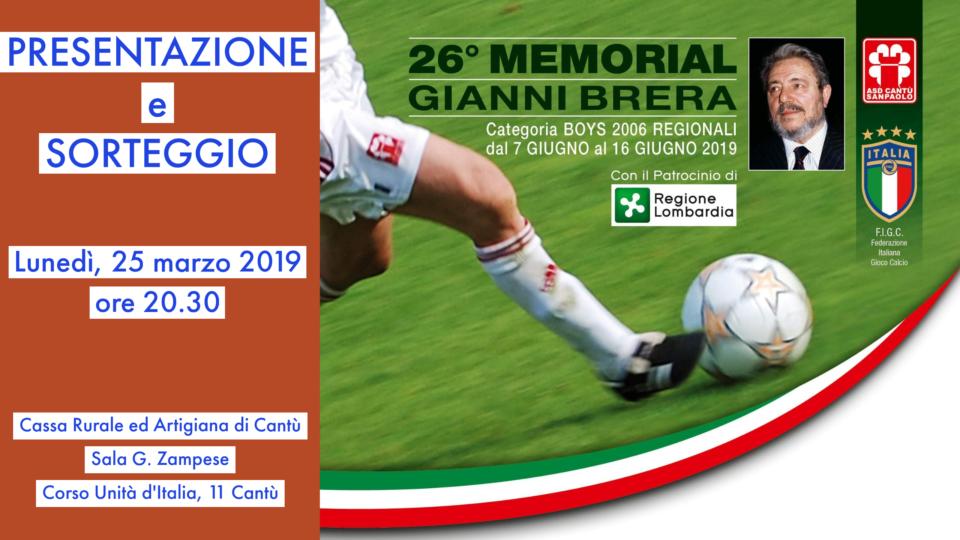 """Presentazione 26° Memorial """"Gianni Brera"""""""