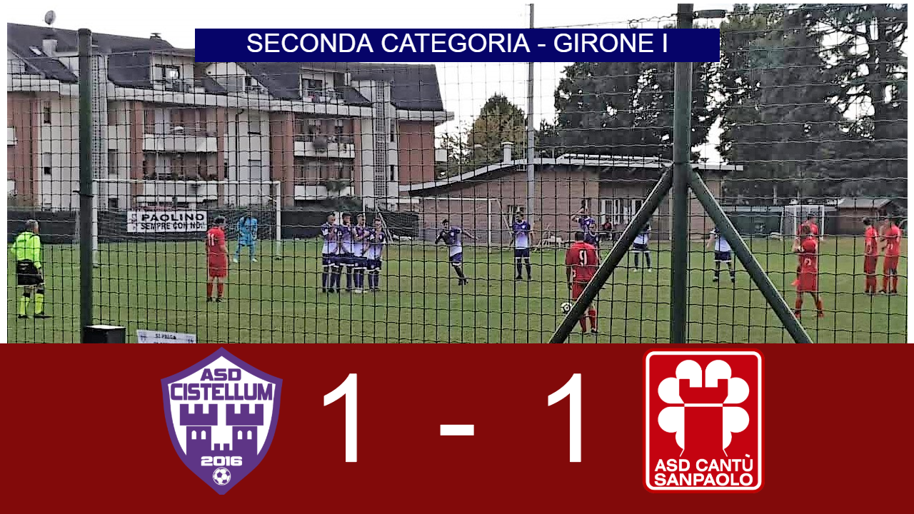 Prima Squadra: Cistellum vs Cantù Sanpaolo 1 – 1