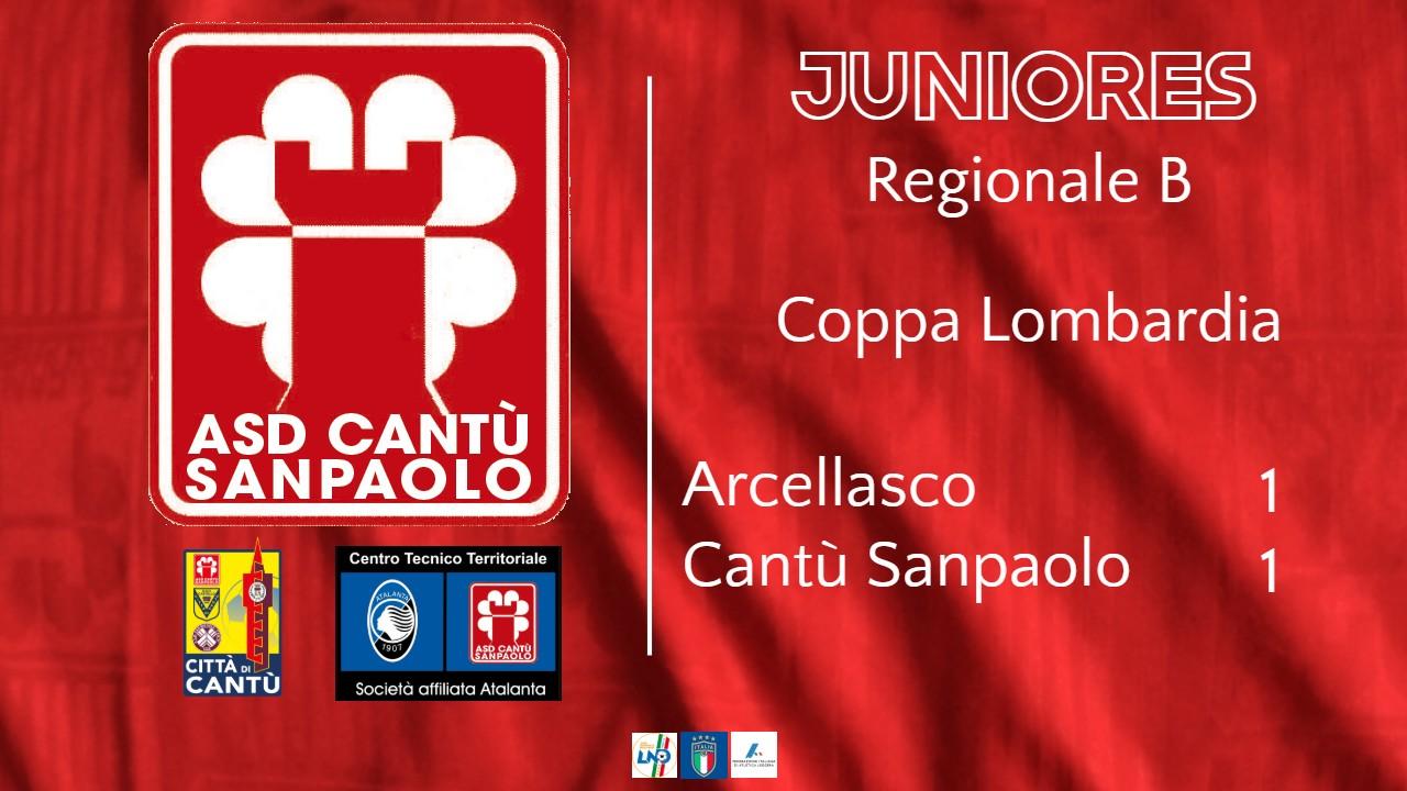 Juniores Reg. B | Coppa Lombardia: Arcellasco vs Cantù Sanpaolo 1 – 1