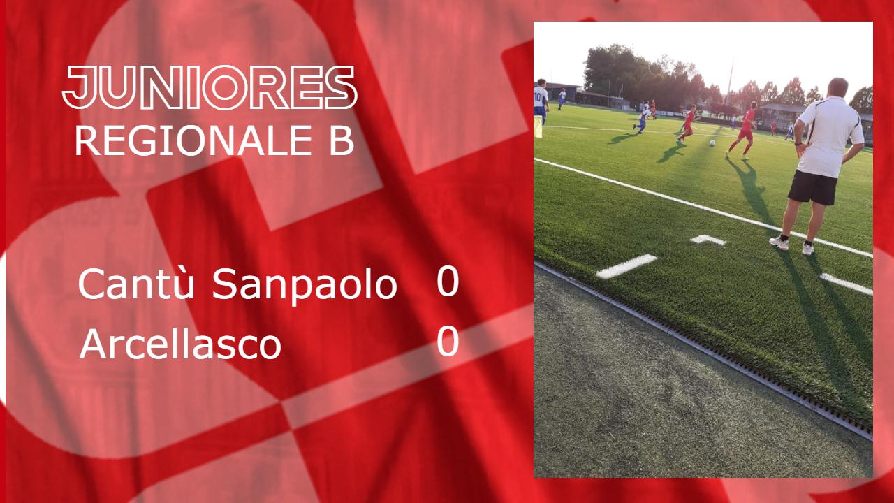 Juniores Reg. B: Cantù Sanpaolo vs Arcellasco 0 – 0