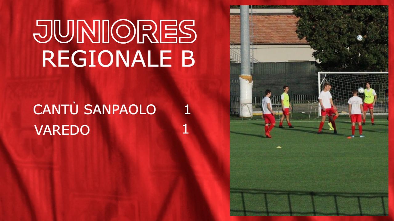 Juniores Reg. B: Cantù Sanpaolo vs Varedo 1 – 1