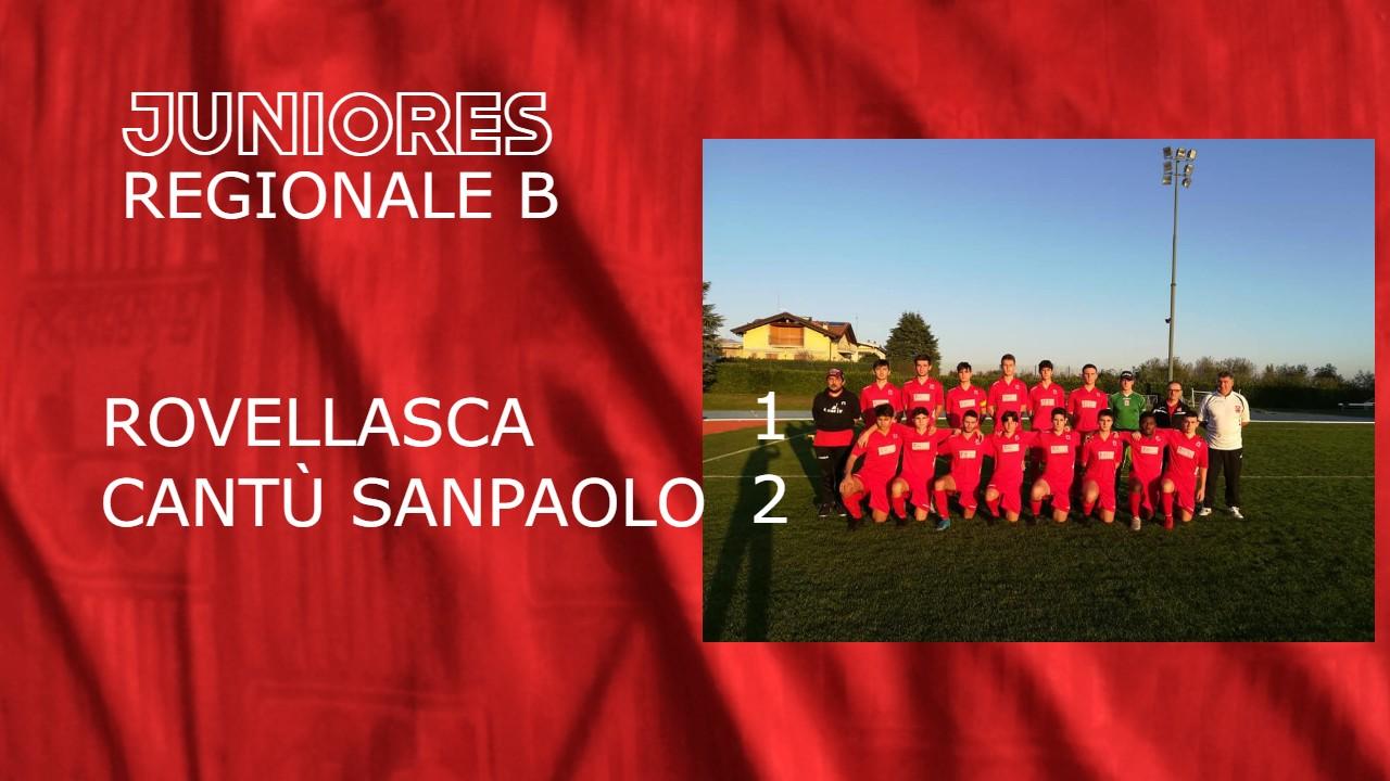 Juniores Reg. B: Rovellasca vs Cantù Sanpaolo 1 – 2