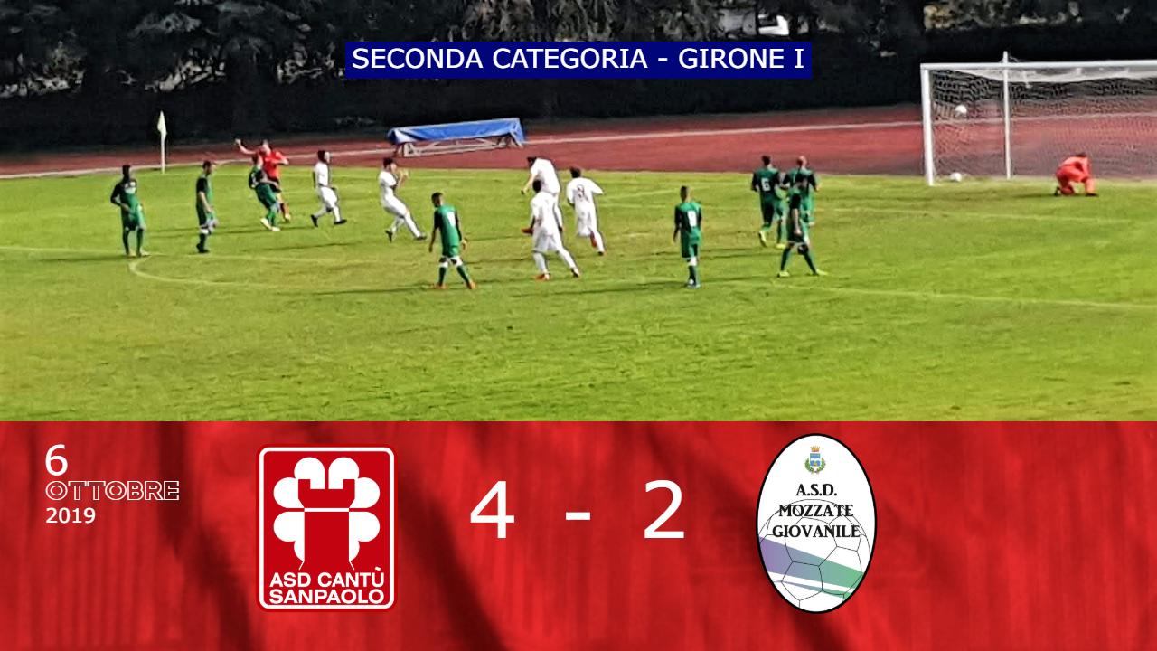 Prima Squadra: Cantù Sanpaolo vs Mozzate Giovanile 4 – 2