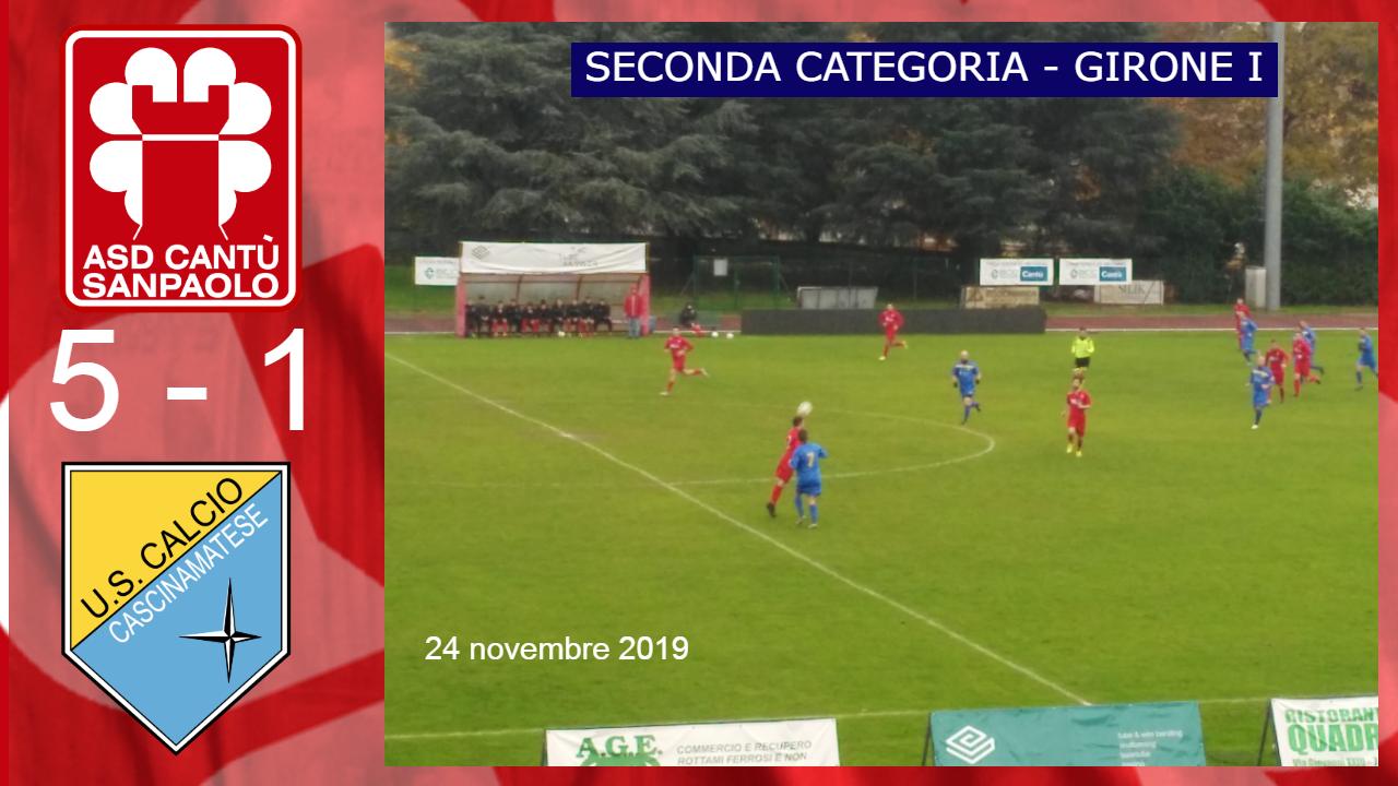 Prima Squadra: Cantù Sanpaolo vs Cascinamatese 5 – 1