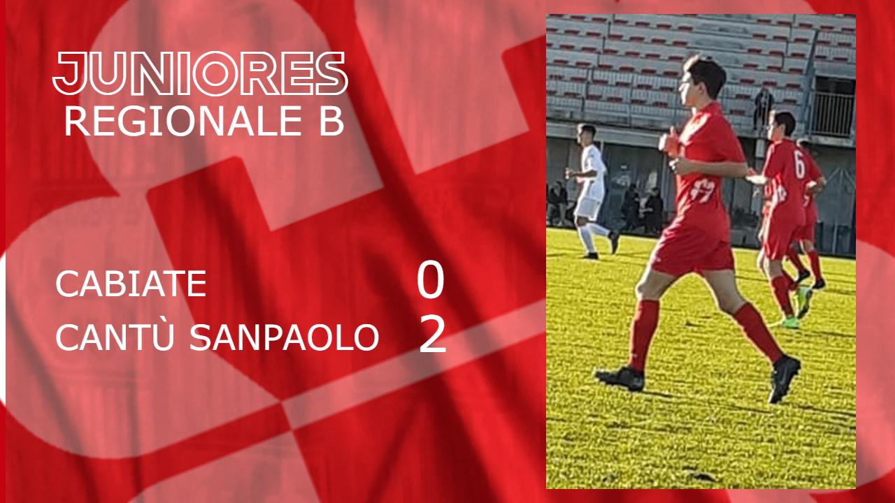 Juniores Reg. B: Cabiate vs Cantù Sanpaolo 0 – 2