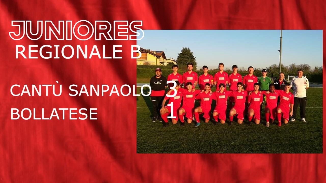Juniores Reg. B: Cantù Sanpaolo vs Bollatese 3 – 1