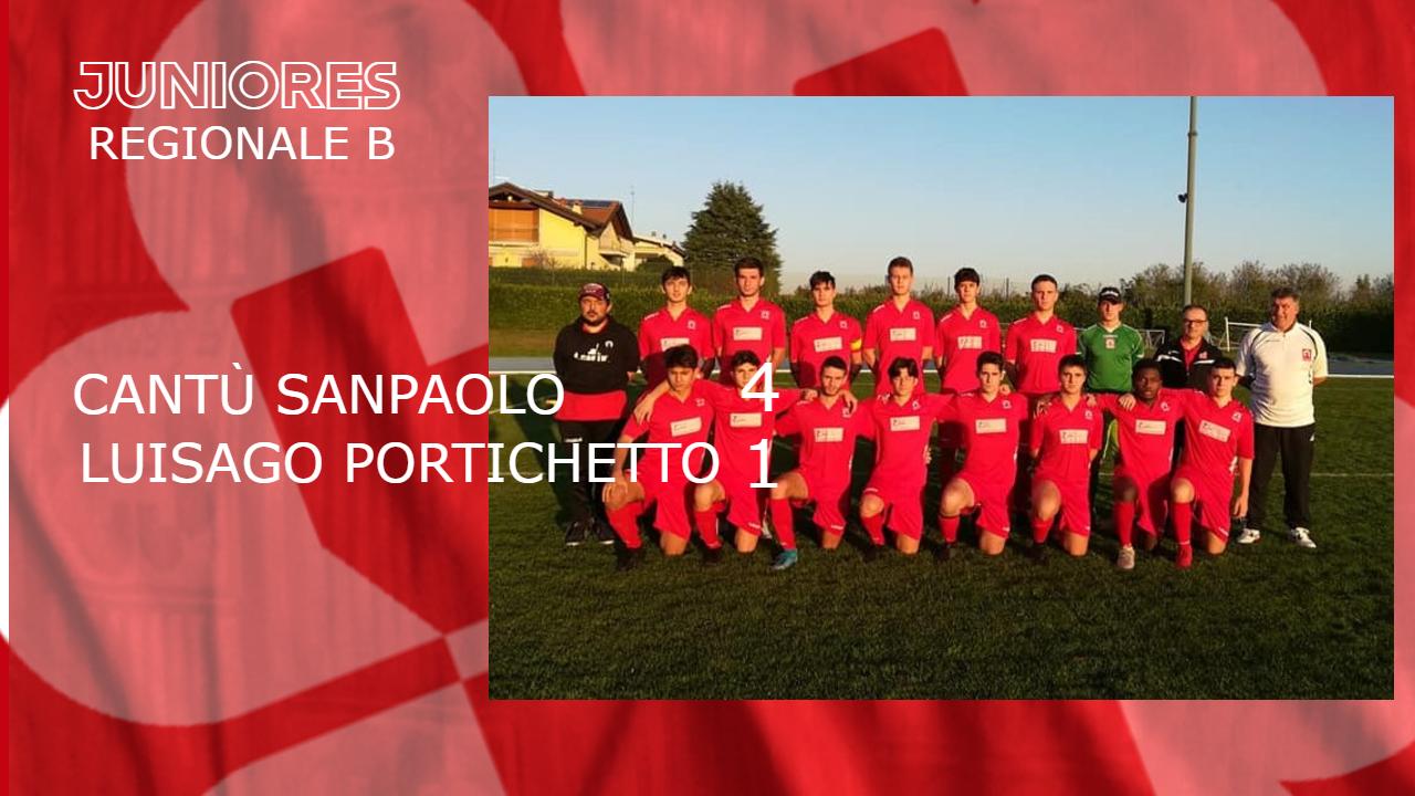 Juniores Reg. B: Cantù Sanpaolo vs Luisago Portichetto 4 – 1