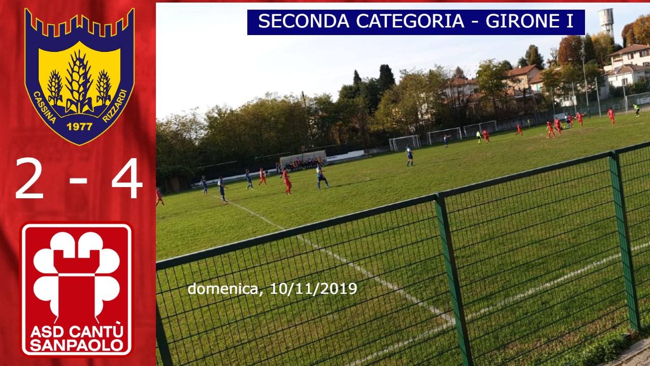 Prima Squadra: Cassina Rizzardi vs Cantù Sanpaolo 2 – 4