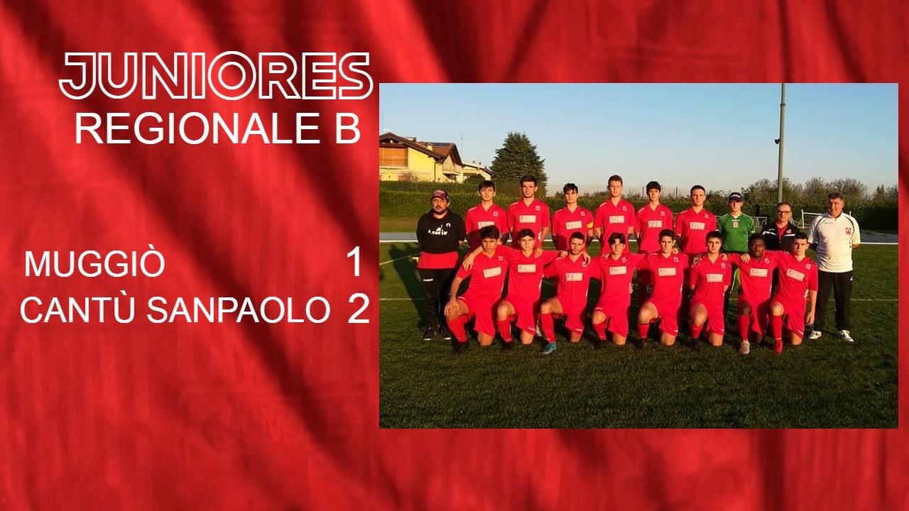 Juniores Reg. B: Muggiò vs Cantù Sanpaolo 1 – 2
