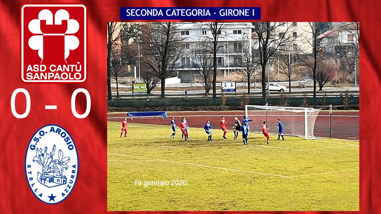 Prima Squadra: Cantù Sanpaolo vs Stella Azzurra Arosio 0 – 0