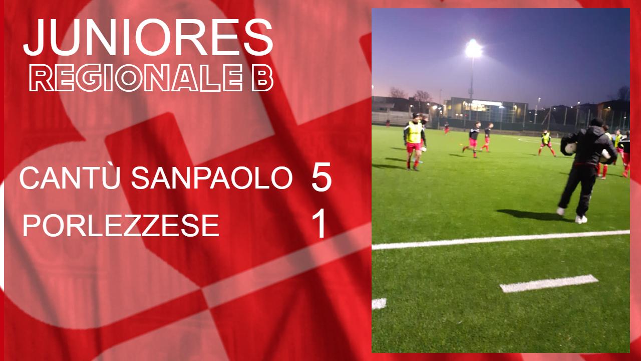 Juniores Reg. B: Cantù Sanpaolo vs Porlezzese 5 – 1