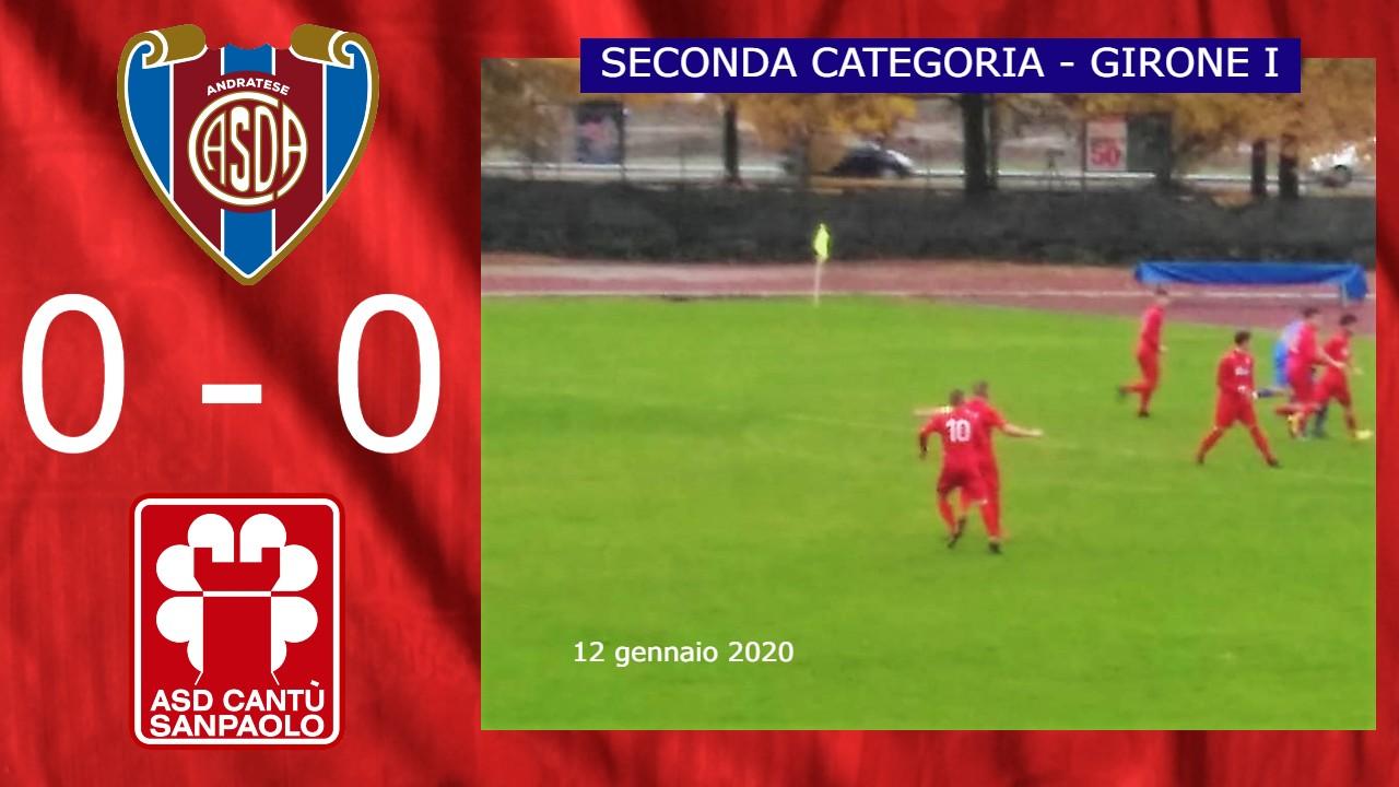 Prima Squadra: Andratese vs Cantù Sanpaolo 0 – 0