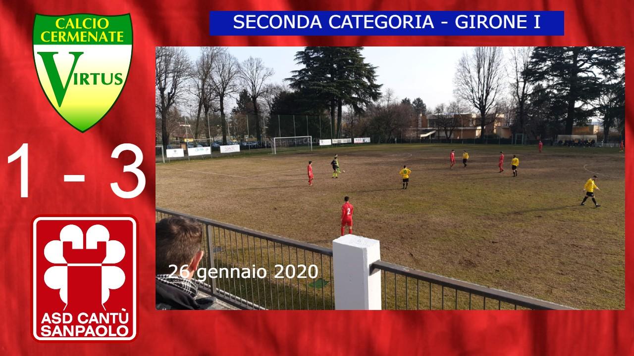 Prima Squadra: Virtus Cermenate vs Cantù Sanpaolo 1 – 3