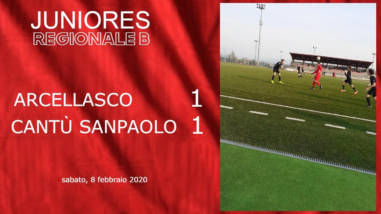 Juniores Reg. A: Arcellasco vs Cantù Sanpaolo 1 – 1