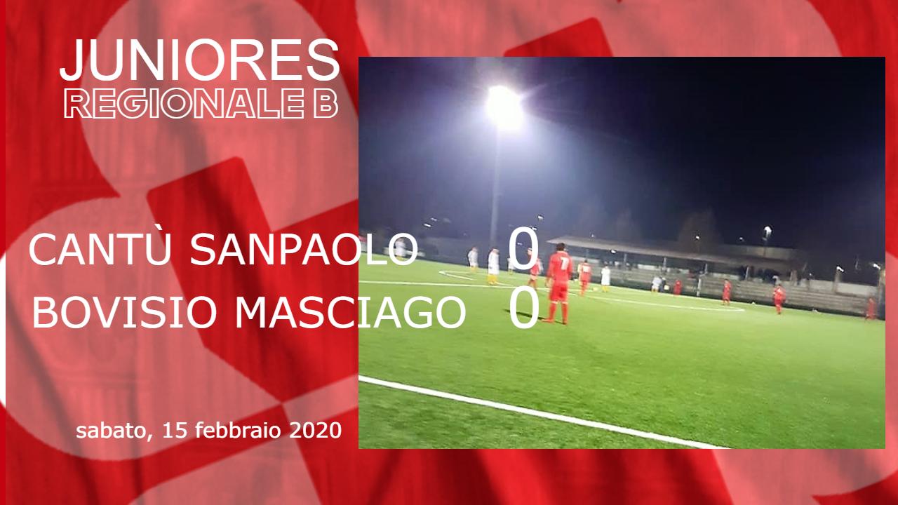 Juniores Reg. B: Cantù Sanpaolo vs Bovisio Masciago 0 – 0