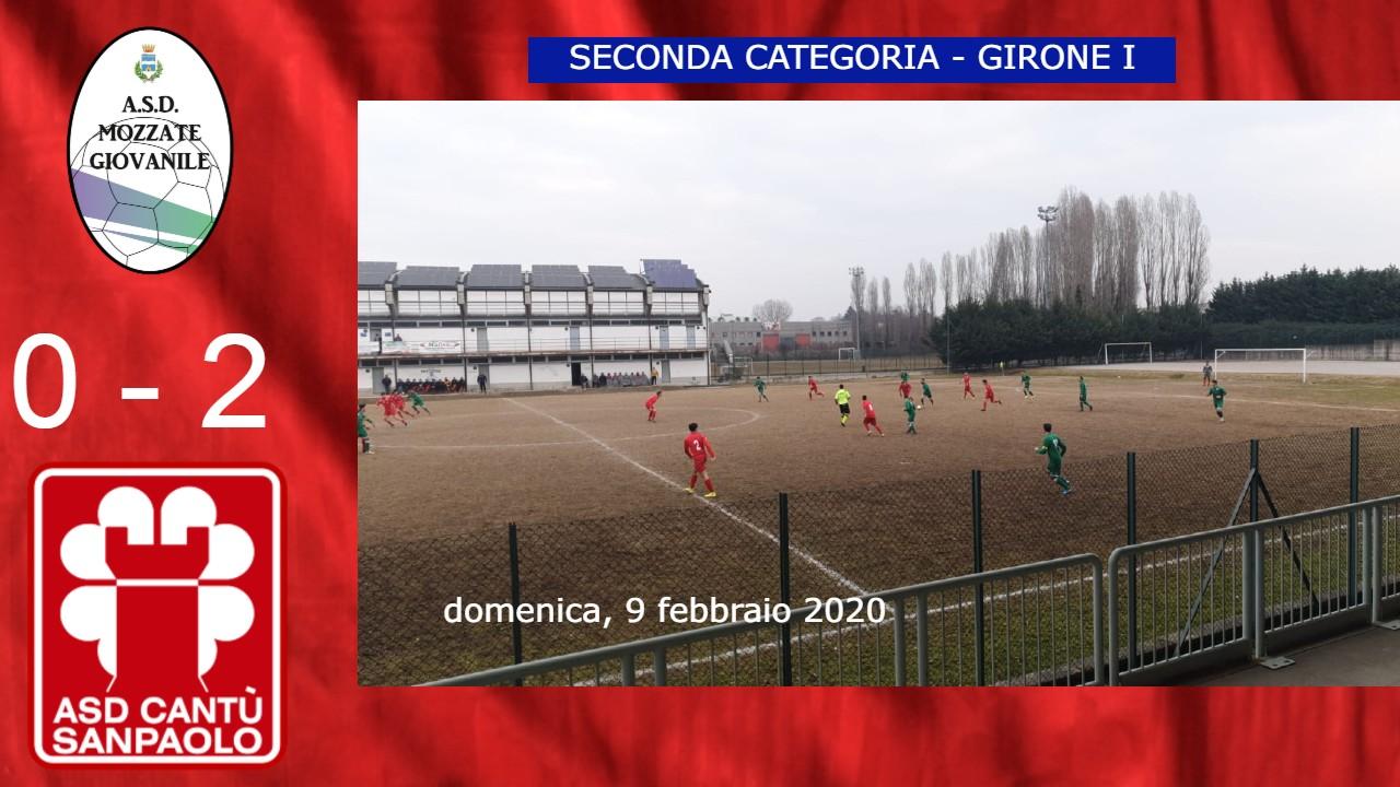 Prima Squadra: Mozzate Giovanile vs Cantù Sanpaolo 0 – 2