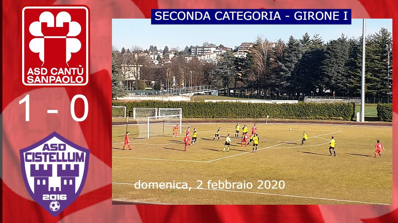 Prima Squadra: Cantù Sanpaolo vs Cistellum 2016 1 – 0