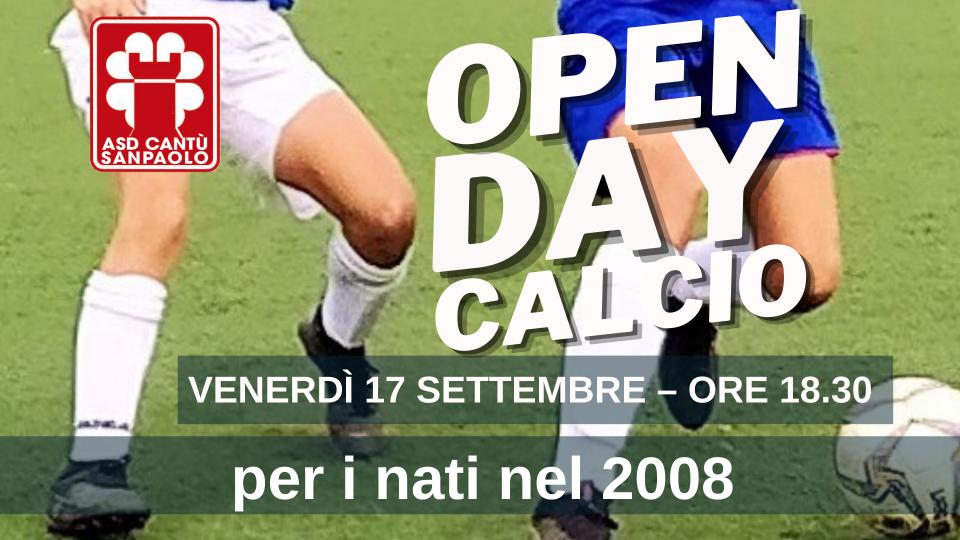 OPEN DAY CALCIO   per i nati nel 2008
